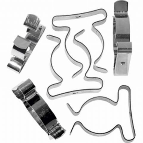 Zinc Plated Tool Holding Clips Packs - 4 Sizes
